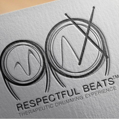 Respectful Beats Therapeutic Drumming Experience Logo Design