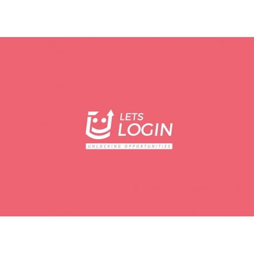 Lets Login Logo design