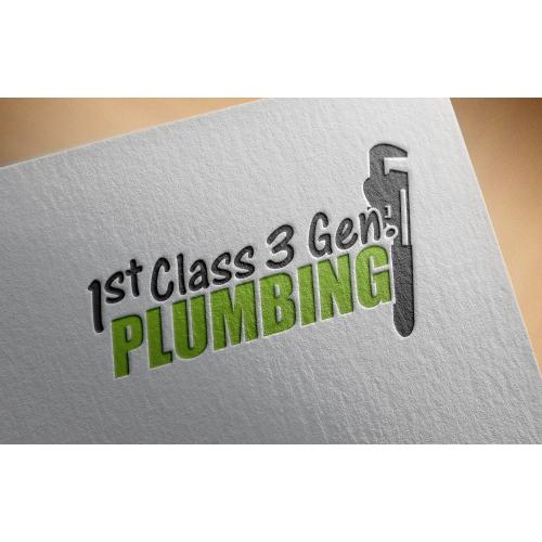 1st Class 3rd Gen Plumbing - Logo Design