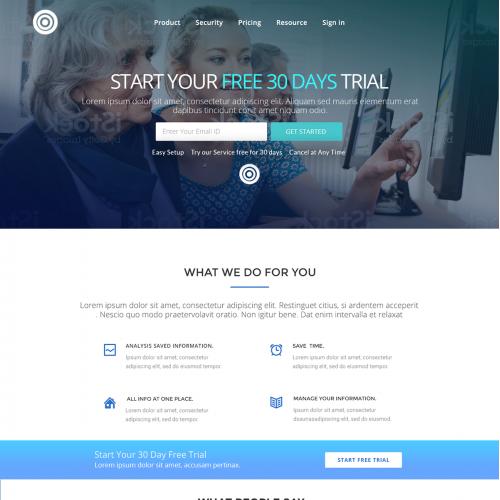Digital Vault Landing Page